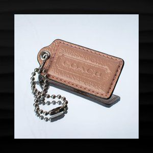 2.5″ Large COACH PEACH PATENT LEATHER KEY FOB